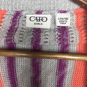 Cato Shirts & Tops - Cato Girls Size Large(14/16) Multicolored Cardigan